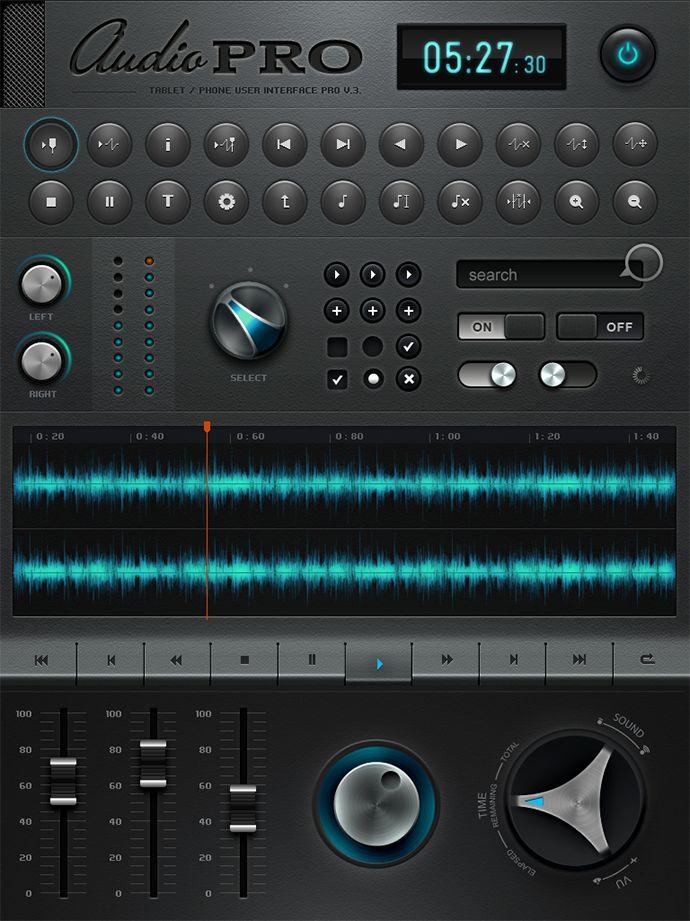 Tablet / Phone User Interface PROFESSIONAL SET V. 4.0 / AUDIO