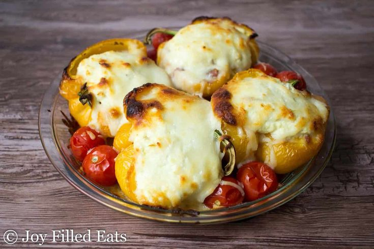 White Lasagna Stuffed Peppers - Low Carb, Grain Gluten Free, THM S, Keto