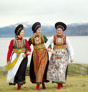 Bunad variations from Fusa, Norway