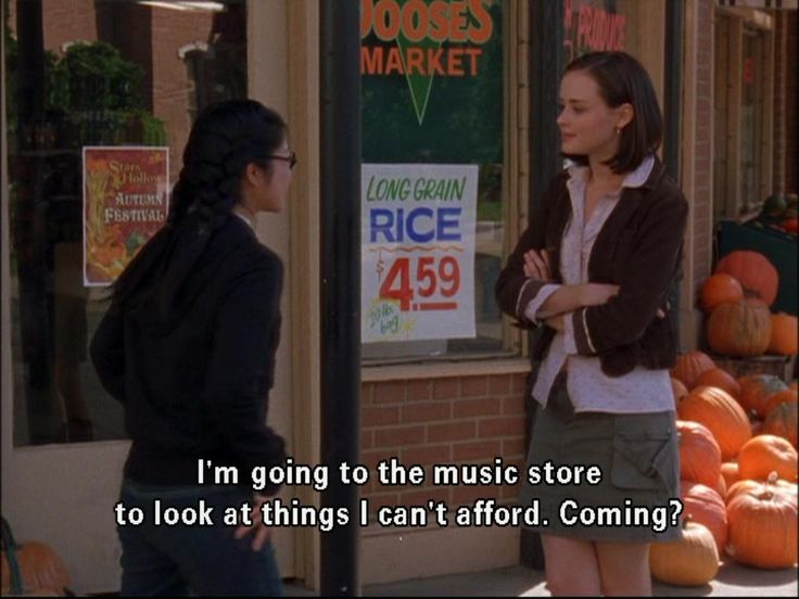Gilmore Girls | Lane Kim: I'm going to the music store to look at things I can't afford. Want to come?