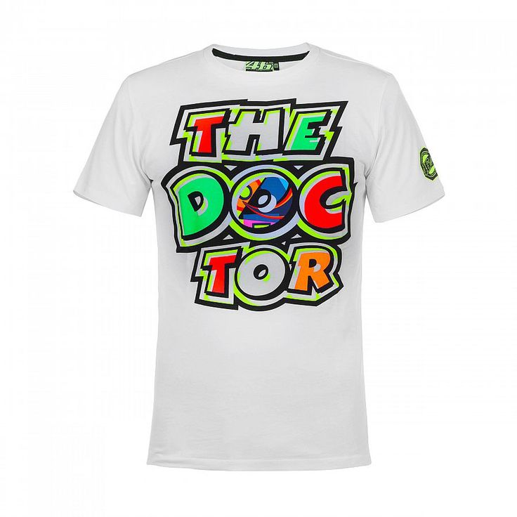 New Arrival ! T-shirt Valentino Rossi VR46 46 The Doctor Motorcycle Moto GP Racing T-Shirt Tee White