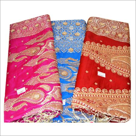 Finishing - Aesthetic. These are examples of Banarsari Sarees. They are made of the finest silks with delicate embroidery designs on the borders and body of the Sarees. The detailing is very intricate showing the skill of embroidery.