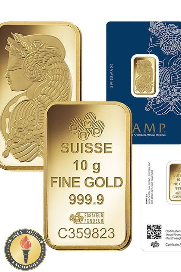 10 Gram Pamp Suisse Gold Bars For Sale Lowest Prices Money Metals Gold Bars For Sale Gold Bar Gold Exchange