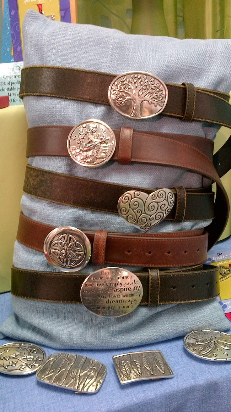 Handcrafted pewter belt buckles made in Pugwash, Nova Scotia by Basic Spirit.   Www.basicspirit.com