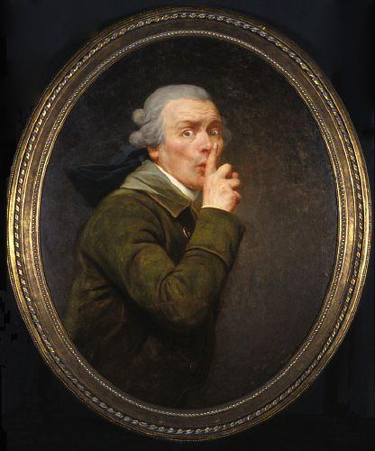 Joseph Ducreux (1735-1802) • Le Discret, ca.1791                                                                                                                                                      More
