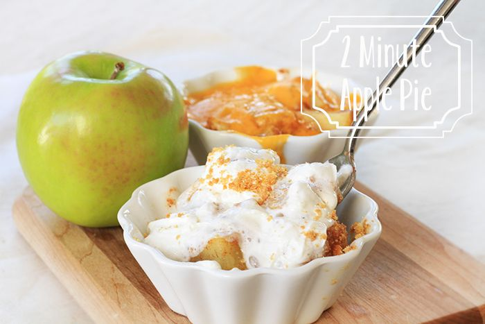 2 Minute Single Serve Apple Pie in the microwave! (With or without the cheese)