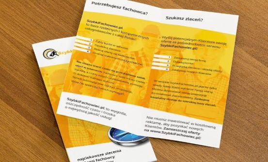 www.szybkifachowiec.pl - ulotki promocyjne dla portalu szybkifachowiec.pl // flyers promoting szybkifachowiec.pl website