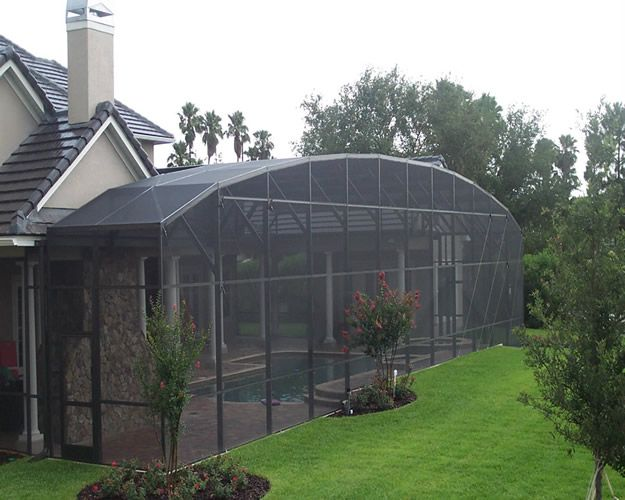 39 dome 39 style aluminum screen enclosure by design pro for Pool enclosure design software