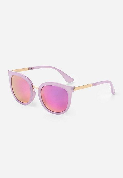 a47077e58d1 Purple   Gold Round Sunglasses