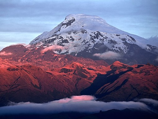 """Snow Exists In the Tropics, and Ken Jennings Can Tell You Where to Find It : Condé Nast Traveler    Cayambe is one of the world's sixty tallest volcanoes, all of which are located in the Andes. It's only erupted once in recorded memory, in 1785, and today it's a popular destination for mountaineers (or """"Andenistas,"""" as alpinists in the Andes are called.)"""