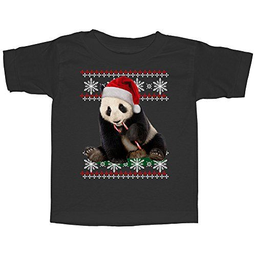 Lost Gods Christmas Panda and Candy Cane  Toddler 5T T Shirt  Lost Gods ** Check this awesome product by going to the link at the image.