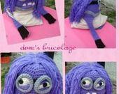 bonnet au crochet minion violet bonnet péruvien : Mode Bébé par dom-s-bricolage