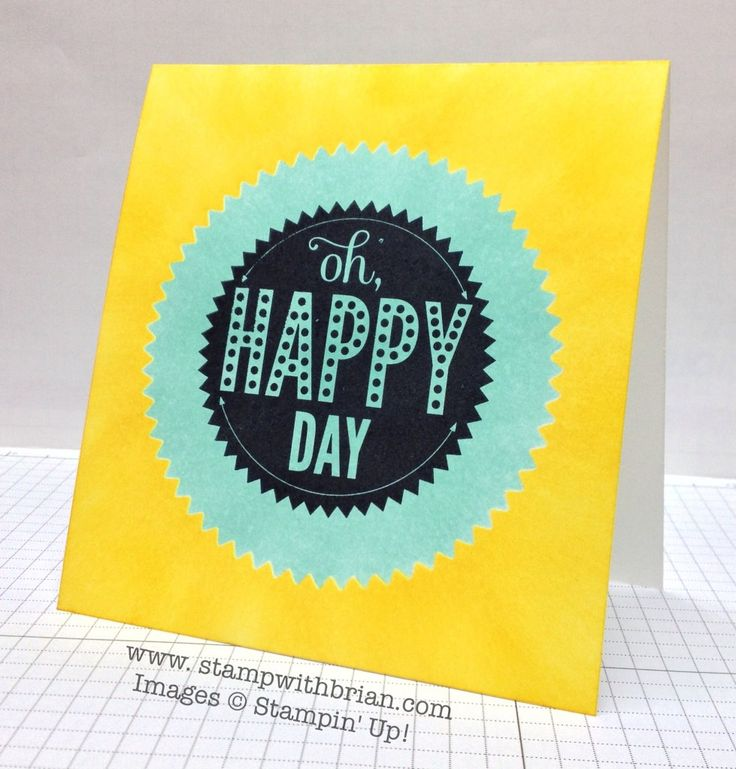 Starburst Sayings, Stampin' Up!, Brian King, TCC6, single-layer card