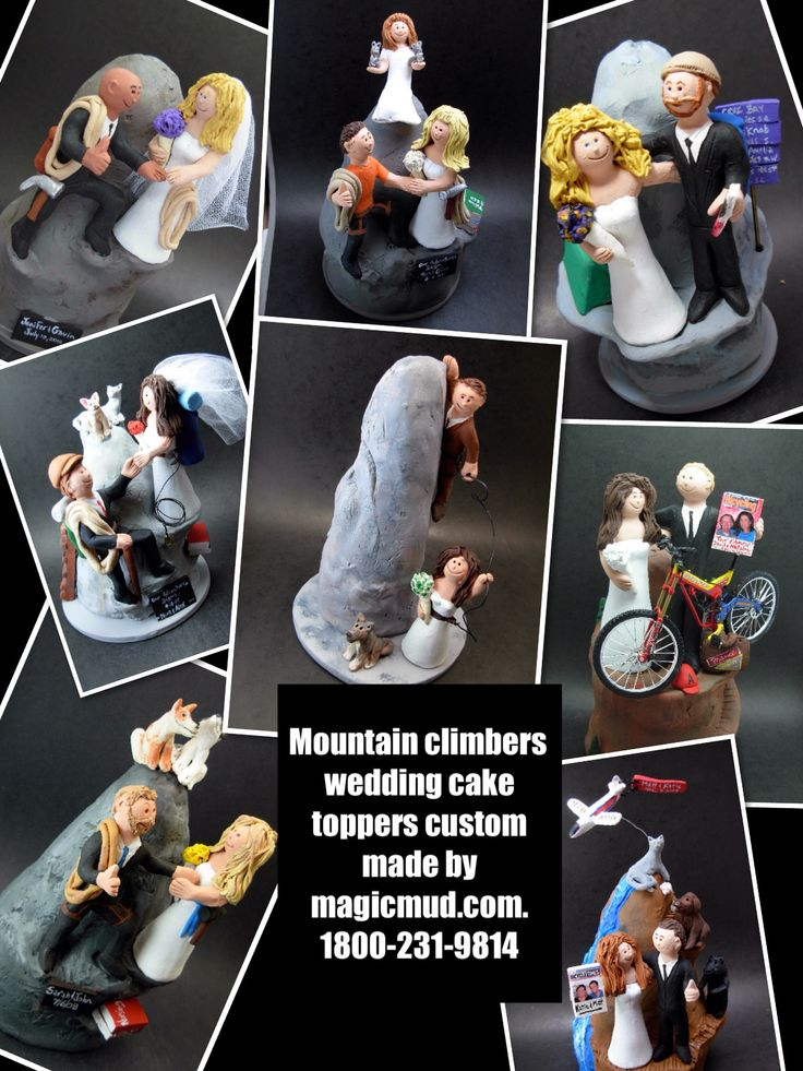 Mountain and rock climbers wedding cake toppers by www.magicmud.com 1 800 231 9814 magicmud@magicmud... blog.magicmud.com twitter.com/... $235 #rockclimbers #mountainclimbers #hikers #outdoor #mountainclimb #wedding #cake #toppers #custom #personalized #Groom #bride #anniversary #birthday #weddingcaketoppers #caketoppers #figurine #gift http://custom-wedding-cake-toppers.tumblr.com/ http://instagram.com/weddingcaketoppers https://www.facebook.com/PersonalizedWeddingCakeToppers…