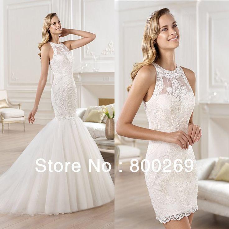 2013 Wedding Gowns Detachable Train: 2013-2014 Trumpet Wedding Dresses With Detachable Skirt