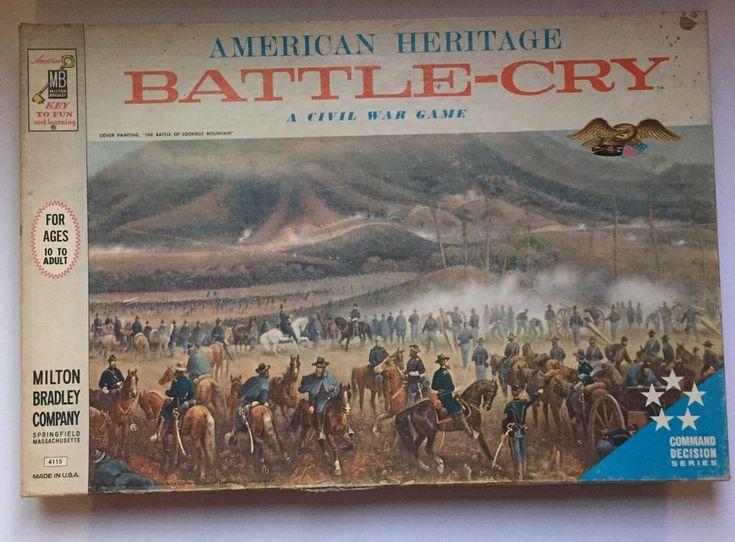 VINTAGE BattleCry Civil War Board Game Milton Bradley