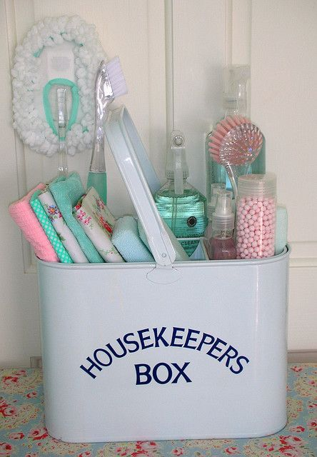 Maybe if my house cleaning tools looked this cute I would want to clean everyday! Hahahaha =)