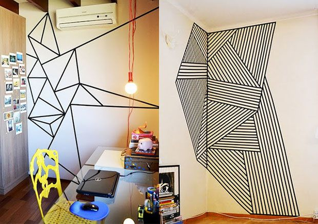 Qua tal decorar a sua casa com fita isolante? O material traz mais vida para qualquer parede sem graça, é rápido, barato e super DIY. Inspire-se!