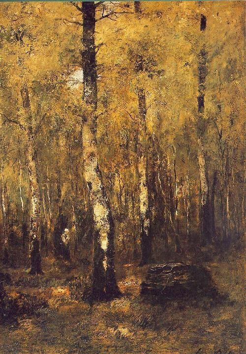 The Depth of the Forest, 1877 by László Paál (Hungarian, 1846-1879), .Oil on canvas. [from Rose Briar]