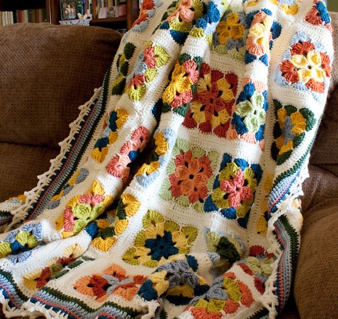 "I finally finished the Summer in Sweden  (""Weekend in Stockholm"") afghan-- about a week ago, actually, but I'm just now getting around to ta..."