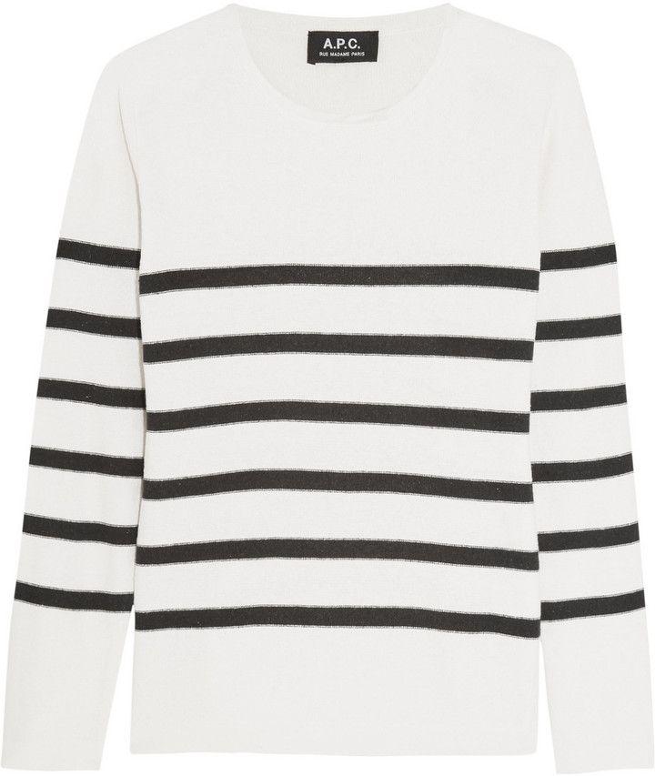 A.P.C. Atelier de Production et de Création Striped Silk Sweater