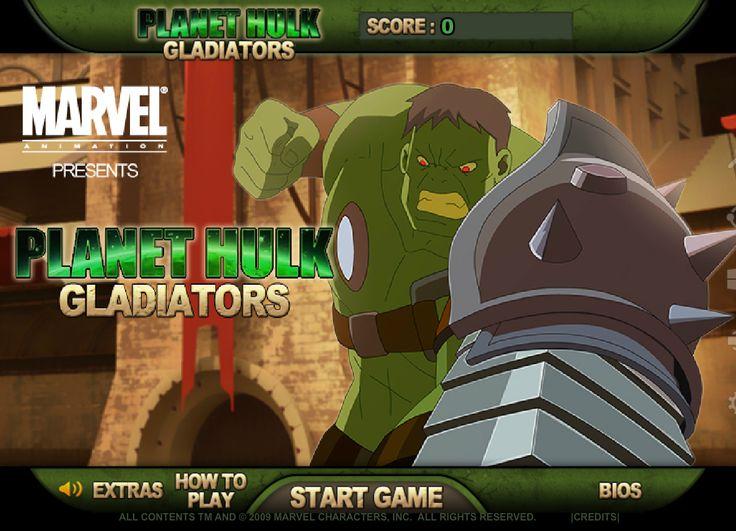 Excelente juego de peleas de Gladiadores donde Hulk sera tu hombre de peleas, trata de ganar todas las batalla y entra en modo historia, un juego de accion, peleas, lucha y mucho mas Planet Hulk Gladiator