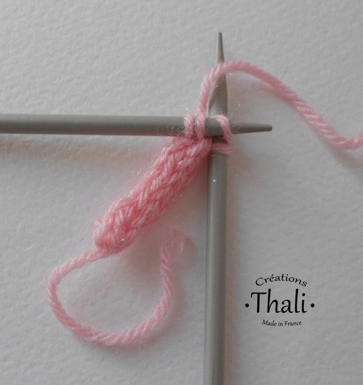 A técnica para fazer um cordão i-cabo de tricô, passo a passo e ...