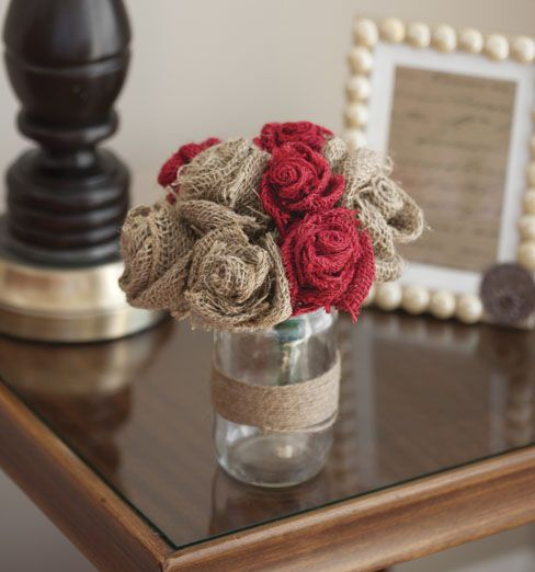 #DIY Burlap Rose Bouquet