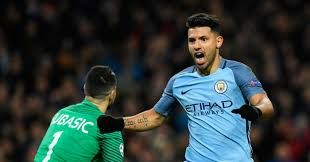Manchester City 5 - 3 MonacoCompetition: UEFA Champions LeagueDate: 21 February 2017Stadium: Etihad Stadium (Manchester)Referee: Antonio MateuGoals: MANCHESTER CITY (Sterling 26', Aguero 58', Aguero 71', Stones 77', Sane 82')       AS MONACO (Falcao 32', Lottin 40', Falcao 61)