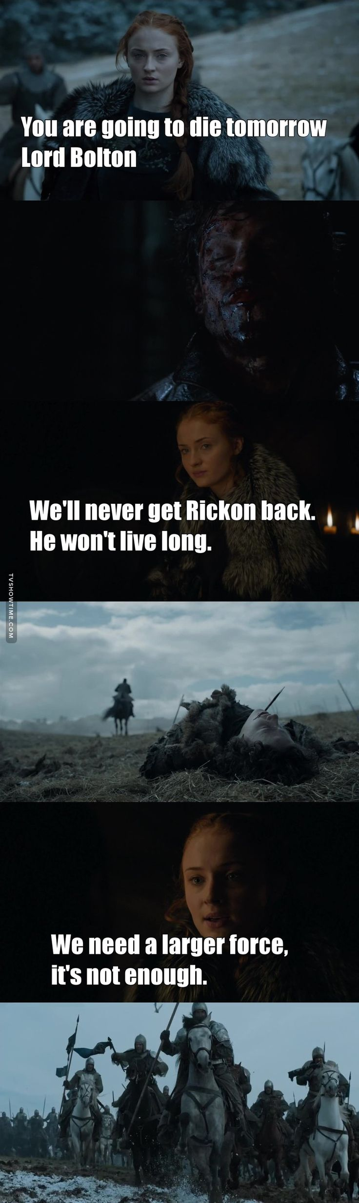 She truly understands the game now. Every single thing that she said turned out to be true. #TeamSansa <<