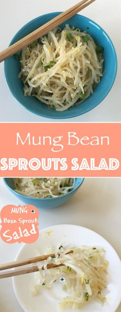 Mung Bean Sprouts Salad - Vegan, Korean Side dish that is easy to make. Goes well with any meal. A very simple recipe to make that comes together in 15min. - By Nut Free Wok