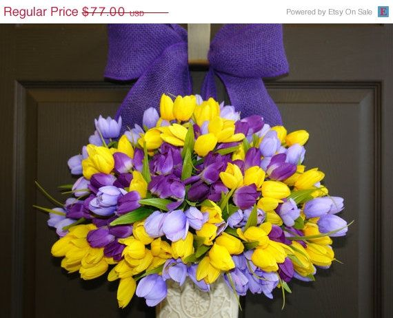 SPRING SALE 10% OFF spring wreath Easter wreaths by aniamelisa
