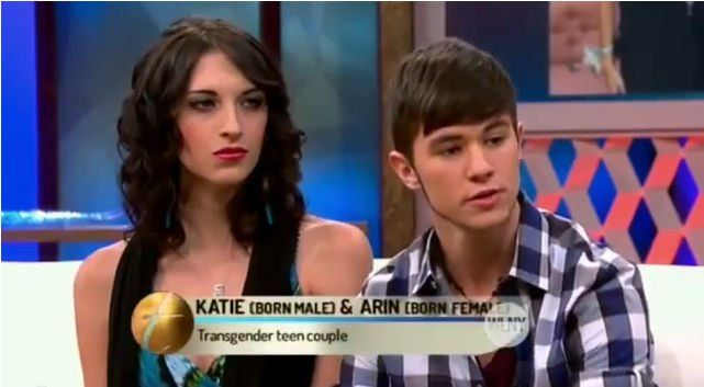 Transgender Teen Couple: Katie (19, born male) & Arin (17, born female) Discuss Intimacy. Teen Transgender Couple, Katie and Arin Discusses Intimacy. You may have read about Katie and Arin last year, when the fascinating story of their romance went viral...
