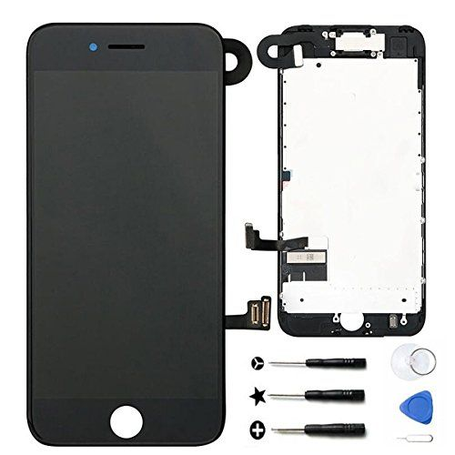 for iPhone 7 4.7inch LCD Display Screen Touch Digitizer Full assembly Replacement with 3D Touch Front Camera Ear Speaker Proximity Sensor Y000 Repair Tools, Screen Protector (Black) ¡  https://topcellulardeals.com/product/for-iphone-7-4-7inch-lcd-display-screen-touch-digitizer-full-assembly-replacement-with-3d-touch-front-camera-ear-speaker-proximity-sensor-y000-repair-tools-screen-protector-black-%c2%ad/  Please DON'T use it on iPhone 7 Plus. Compatibility: ONLY wor