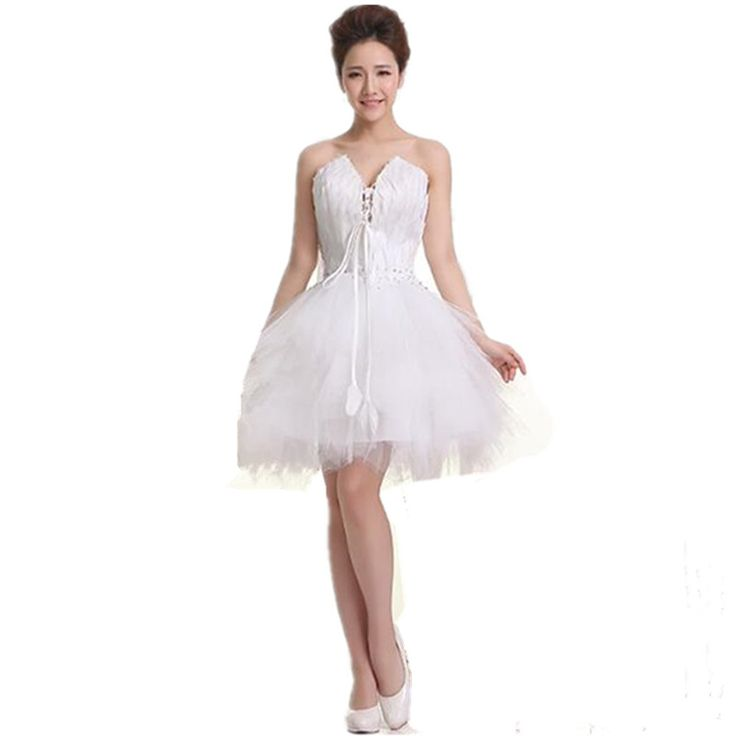 Short Fitted Simple Girls White Feathers Semi Formal Sexy Teen Homecoming Dresses vintage 2017 for Sale Under 30 Juniors A30