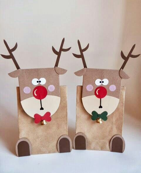 christmas reindeer  tbags christmas crafts