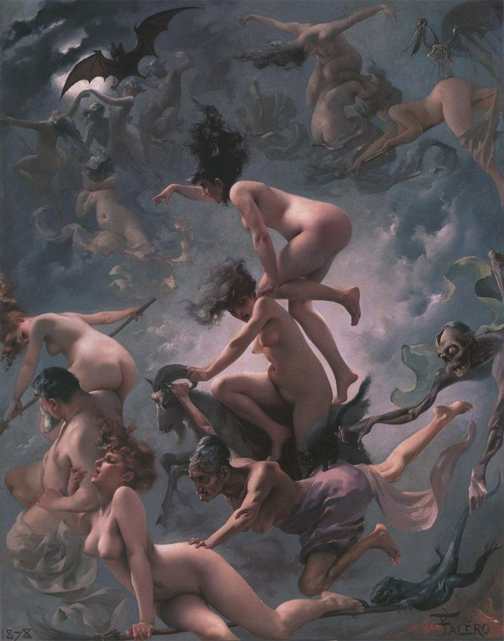 The Departure Of The Witches, A.k.a. The Vision Of Faust, Luis Ricardo Falero, Oil On Canvas, 1878