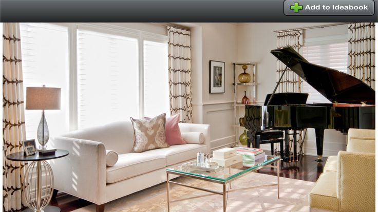 Living room with baby grand piano living room decor for Grand piano in living room