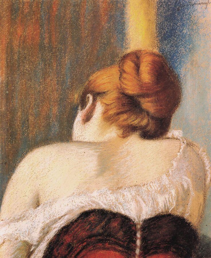Woman in corset ~ Federico Zandomeneghi (1841-1917)