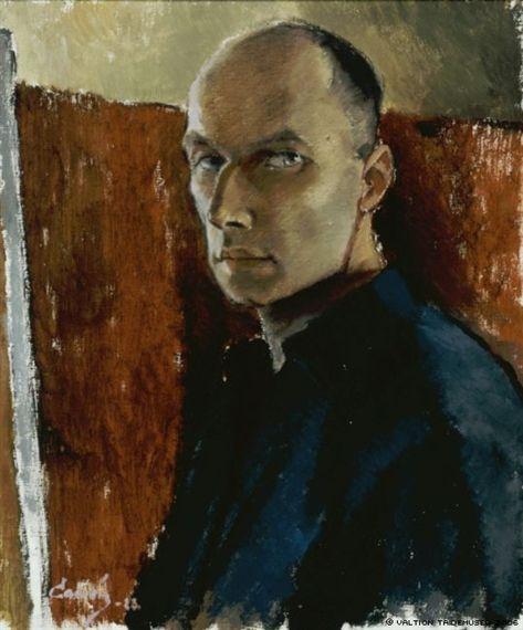 Alvar Cawén - Self-Portrait, 1923, oil on canvas, 55 x 46 cm.