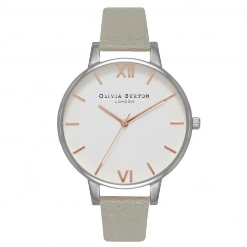 White Dial Grey, Silver & Rose Gold - from Olivia Burton UK