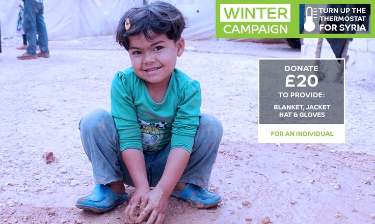 Would you send a Winter Kit for her? #syria #refugee #winter #campaign #donate