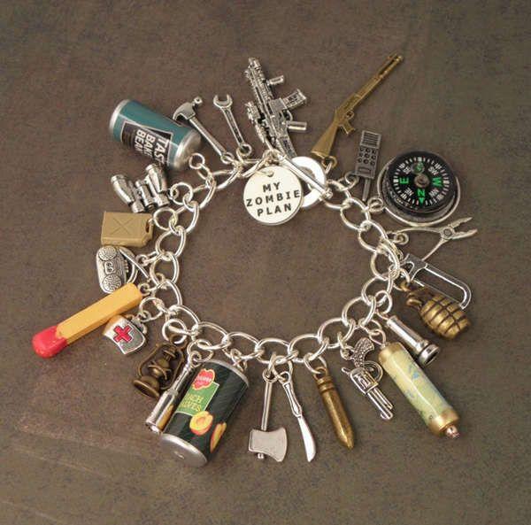 This Zombie Survivor Charm Bracelet is Perfect for Apocalypse Lovers trendhunter.com