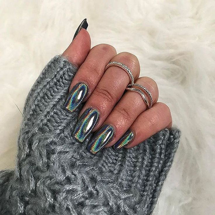 gorgeous 90+ Glamour Chrome Nails Trends 2017