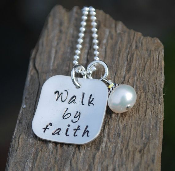 Faith Necklace Walk By Faith Inspirational Jewelry