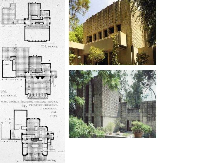 "60 best frank lloyd wright: millard house ""la miniatura"" images on"