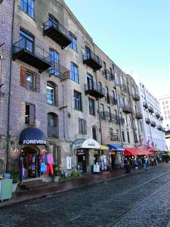What to do on a Day Trip to Savannah, Georgia. River Street...one of our favorite places in Savannah to people watch, ship watch, and have drinks and appetizers at Tubby's Tank House