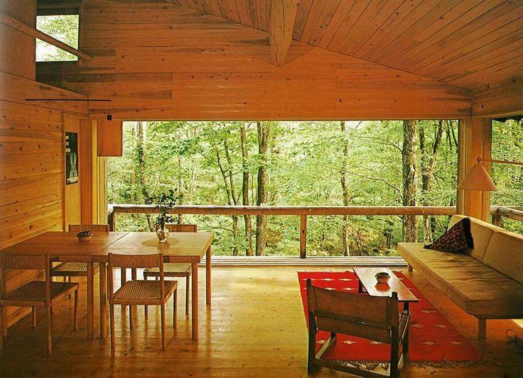 The Mountain Villa In Karuizawa|軽井沢の山荘 吉村順三 内装