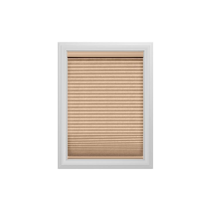 "Cordless Light Filtering Cellular Shade Slotted Window Blind Latte 23""x36"" - Bali Essentials - Tan, Beige"