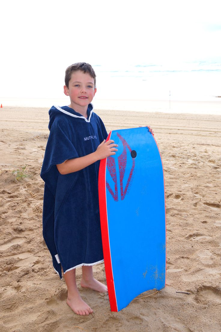Large size navy hooded towel